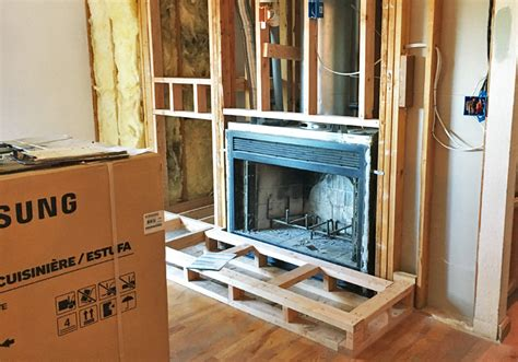 gas fireplace conversion home projects wood burning fireplace to gas insert