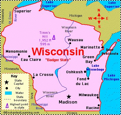 Wisconsin The 30th State by Wisconsin Was The 30th State In The Usa It Became A State