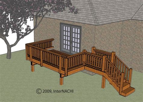 decks on houses inspecting a deck illustrated internachi