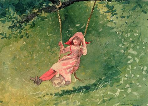 swing painting girl on a swing by winslow homer