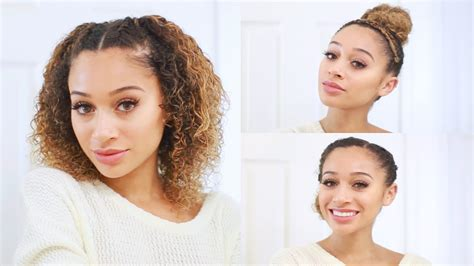 hairstyles for hair for school 3 curly hairstyles for back to school