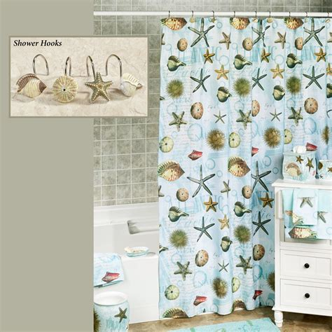coastal shower curtain atlantic seashell coastal shower curtain