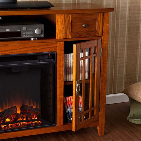Mission Fireplace by 52 Quot Salinas Electric Media Fireplace Mission Oak