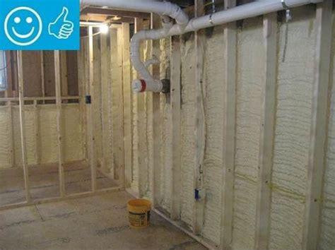 spray foam interior insulation for existing foundation