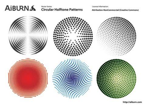 circular pattern ai vector circular halftone patterns pattern vector art ai