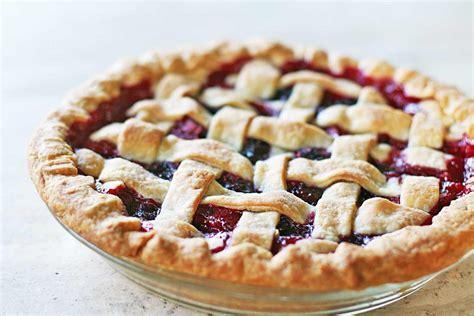 fruit pies rhubarb berry pie recipe simplyrecipes