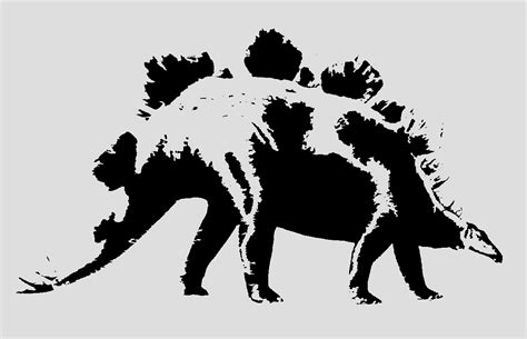 36x48 3 layer stencil of stegosaurus dinosaur stencil 3 layer sp stencils