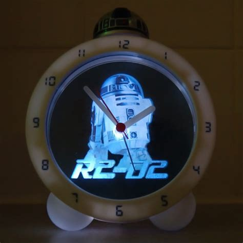 Wars L With Alarm Clock by Wars Glow In The R2 D2 Alarm Clock