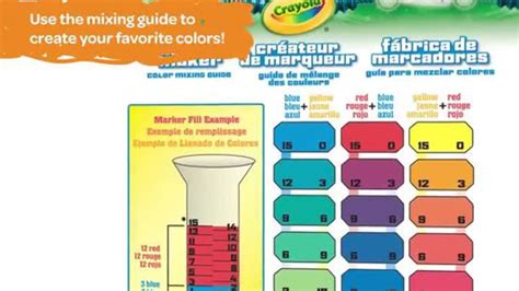 marker maker color mixing guide images