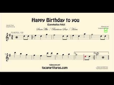 printable happy birthday sheet music alto sax happy birthday to you alto saxophone sheet music notes