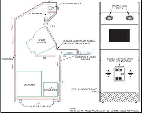 How to Build Arcade Cabinet Plans Metric PDF Plans