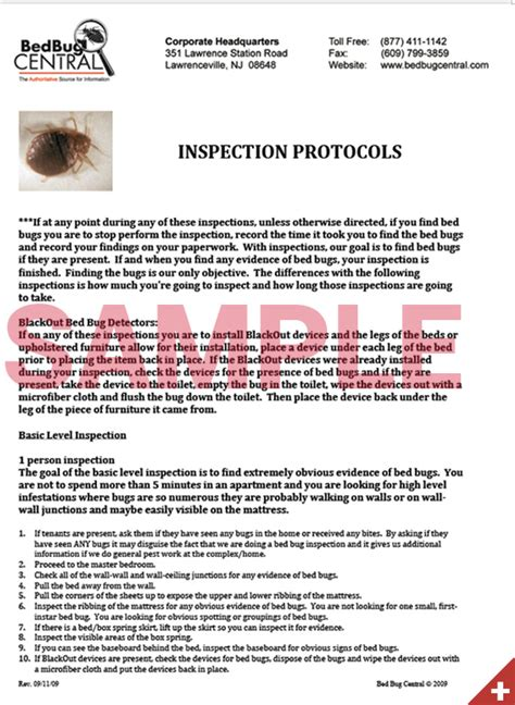 bed bug protocol bed bug protocol 28 images documents package bed bug