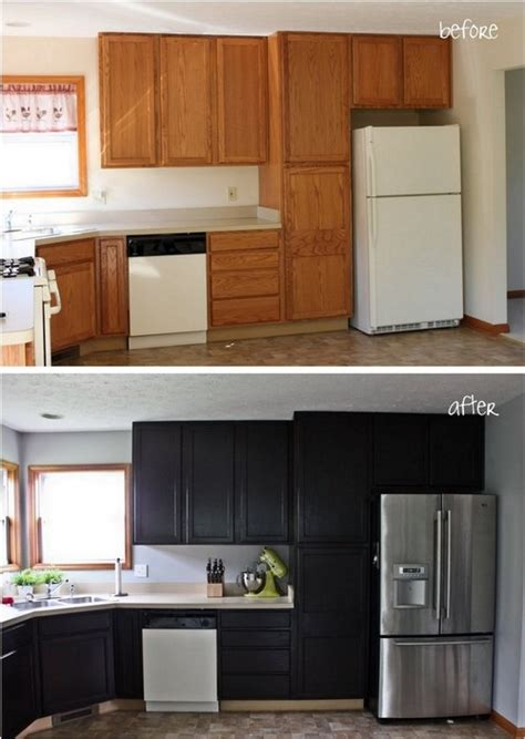 Staining Kitchen Cabinets by Gel Stain Kitchen Cabinet Makeover