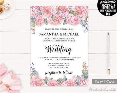 Wedding Invitation Pdf