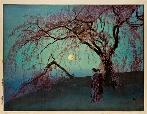 japanese art prints google search japanese art file hiroshi yoshida kumoi zakura kumoi cherry trees