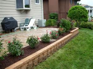 landscaping ideas around patio landscaping around patio sloped front yard retaining wall