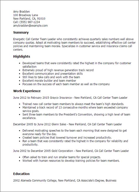 team leader resume samples visualcv resume samples database