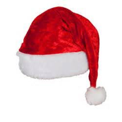 velvet santa hat deluxe christmas crimbo fancy dress