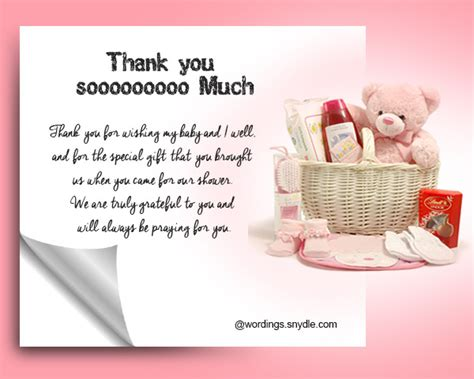 Baby Shower Gift Thank You Card Messages - general thank you message for baby shower gift thank you messages for baby shower