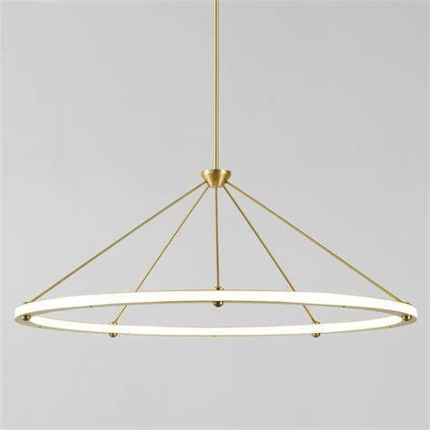 roll and hill lighting the halo circle pendant light originated in paul loebach s