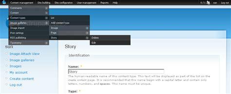 drupal theme user menu administration menu drupal org