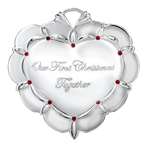 2013 waterford our first christmas together silver ornament