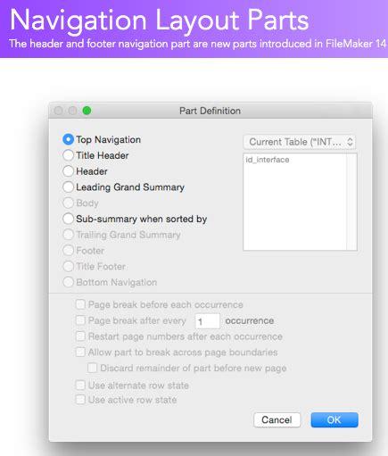 filemaker layout animation filemaker navigation parts filemakerprogurus