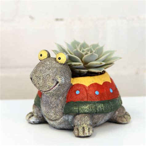 Turtle Planters by Turtle Planter With A Plant By Dingading Terrariums