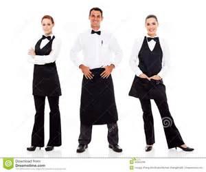 waiter and waitress royalty free stock photos image