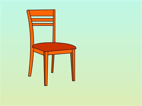 To A Chair by How To Draw A Chair 13 Steps With Pictures Wikihow