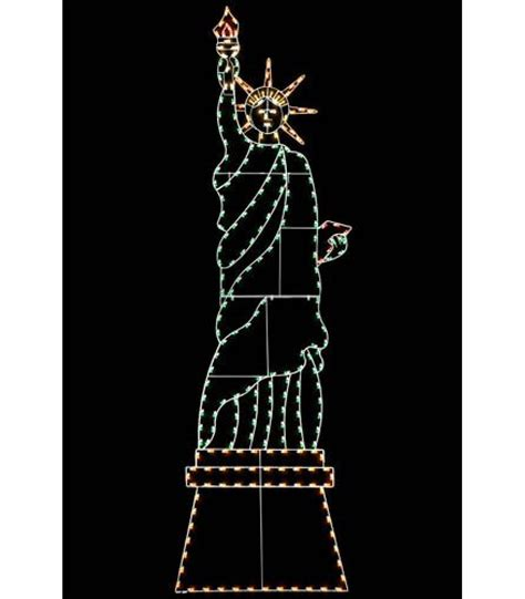 statue of liberty light display all american christmas co
