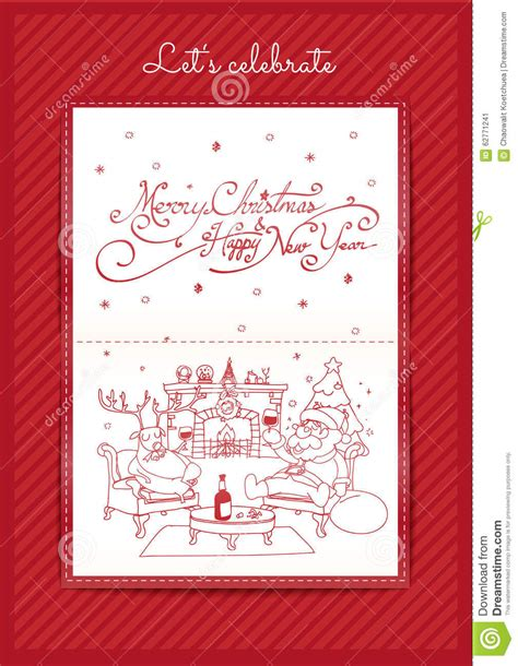 handmade christmas cards let s celebrate merry christmas and happy new year let s celebrate stock