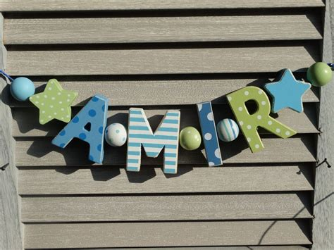 Holzbuchstaben Kinderzimmer Junge by Amir Namenskette Shabby Chic Holz Buchstaben