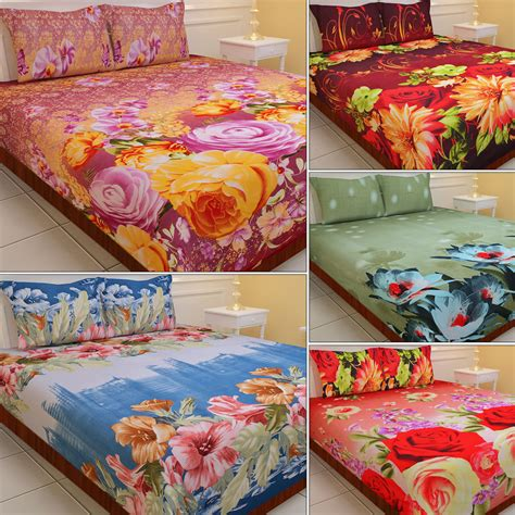3d bed sheets buy luxury queen 5 extra soft 3d print double bedsheets