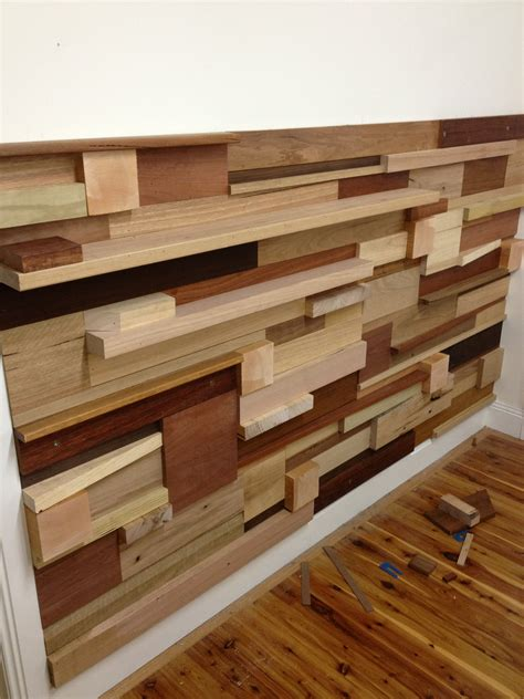 build a stack wood wall from off cuts and left over timbers