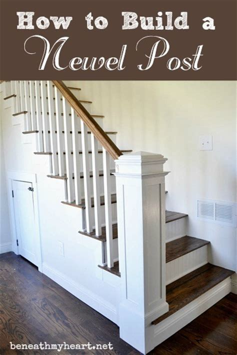 newal post how to build a newel post beneath my