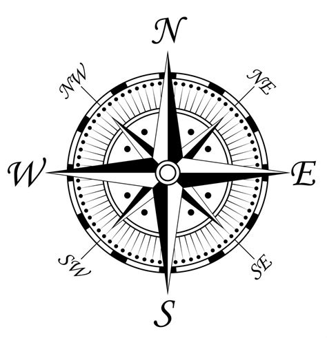 printable compass directions compass png clipart best