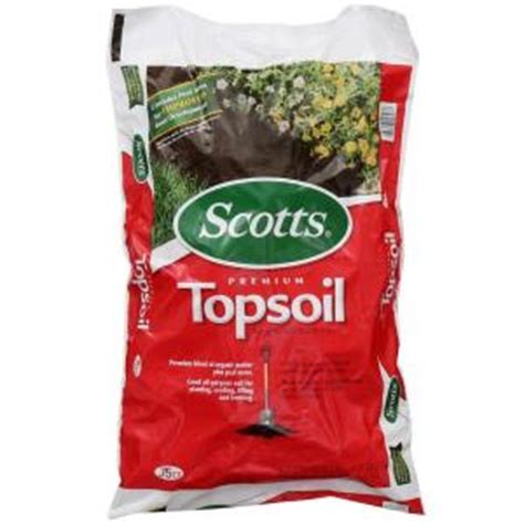 scotts 0 75 cu ft premium topsoil 71130758 the home depot