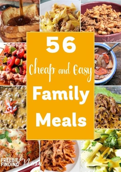 Easy Family 56 cheap and easy family meals