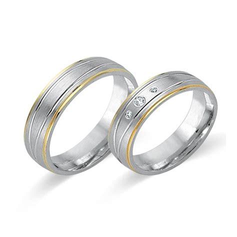 Eheringe 750er Gold by Trauringe 750er Gelb Und Weissgold 3 Diamanten Wr0156 7s