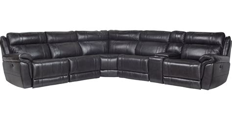 martino leather sectional 2 199 99 martino black 6 pc leather power reclining