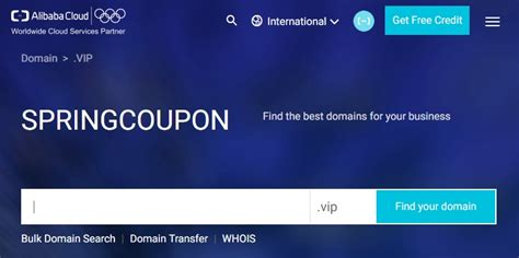 alibaba domain vip domains at the super cheap prices transfer and renew