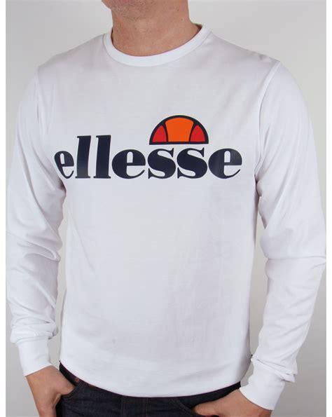 Tshirt Ellesse New One Tshirt ellesse bianchi logo l s white sleeve mens