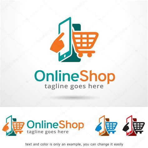 De Shop by Shop Logo Template Design Stock Vector