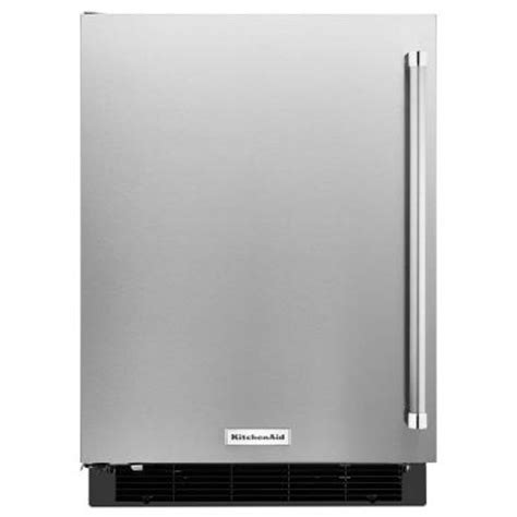 kitchenaid 4 9 cu ft undercounter mini refrigerator in
