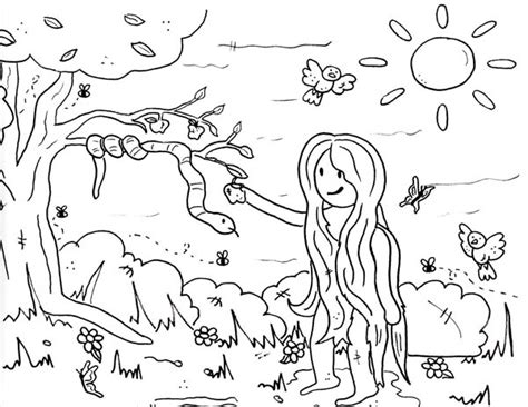 coloring page of the garden of eden garden of eden coloring pages free printable archives