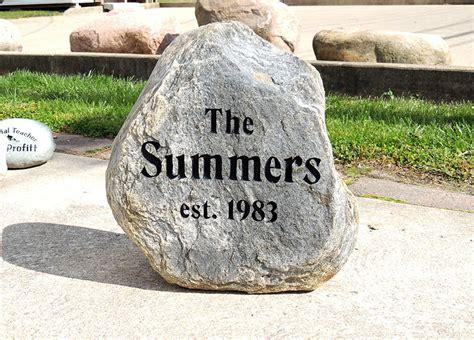 Engraved Garden Rocks Engraved Stones Rock Garden Engraving