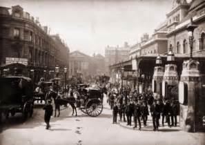 Circa 1890 exterior of liverpool street station in london which is