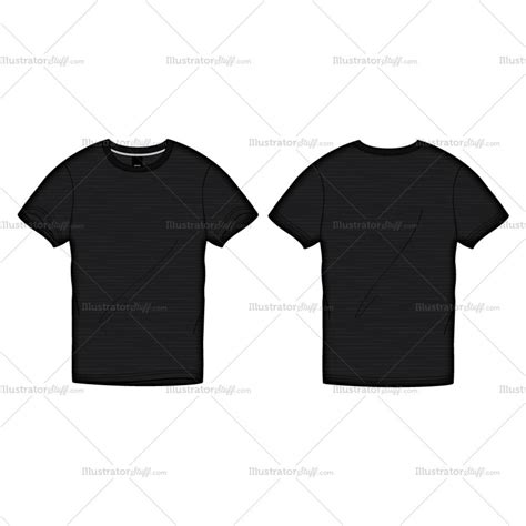 shirt design template illustrator s black roundneck t shirt fashion flat template