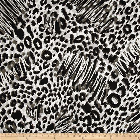 Animal Print Quilting Fabric by Skins Metallic Animal Print Black Silver Fabric